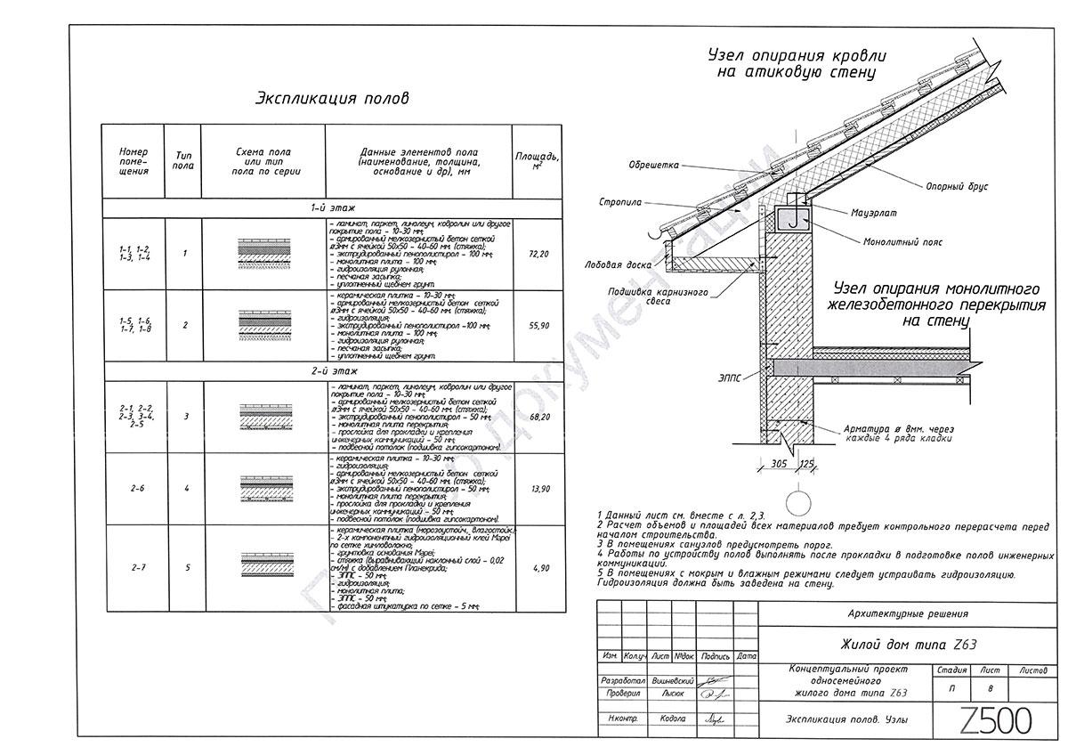 Пример архитектурного раздела 8