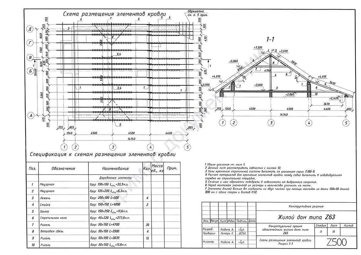 Пример конструктивного раздела 11