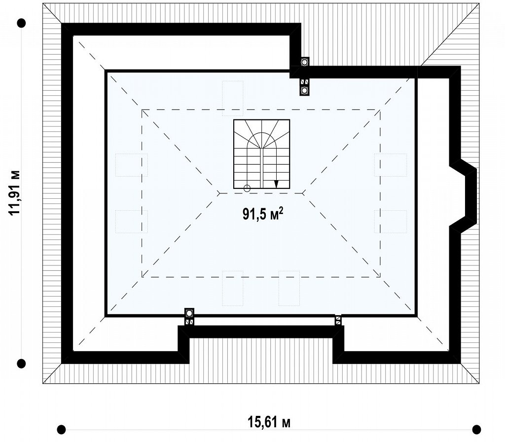 Второй этаж 91,5 м² дома Z10 D sdu