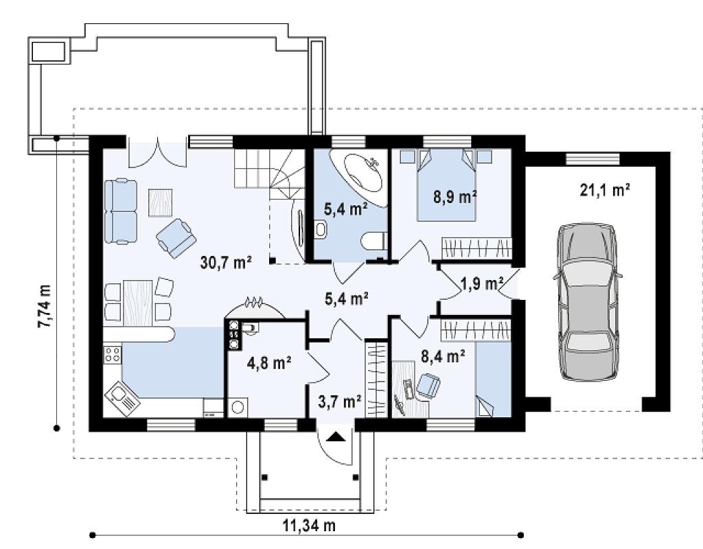 Первый этаж дома Z12 P GP