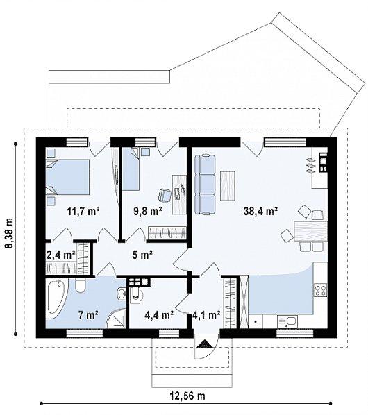 Первый этаж дома Z313