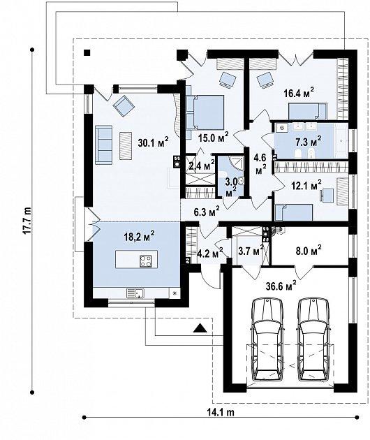Первый этаж  дома Z96 tz