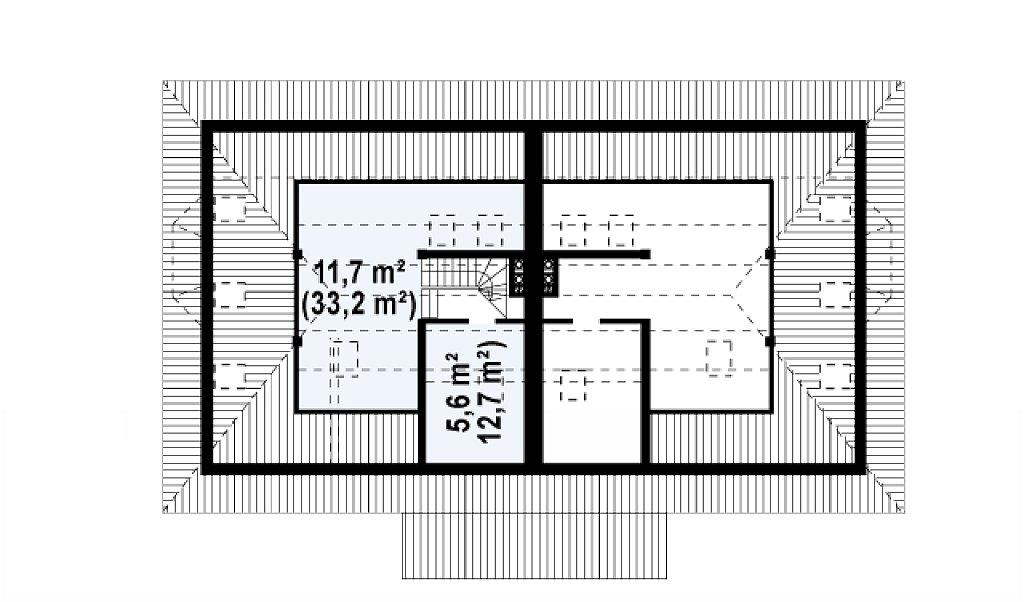 Чердак 44,9 м² дома Zb1