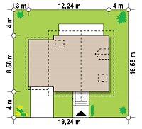 Минимальные размеры участка для проекта Z1 GL
