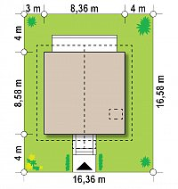 Минимальные размеры участка для проекта Z1 bl