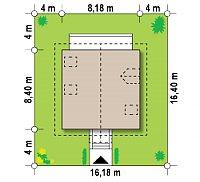 Минимальные размеры участка для проекта Z1 k