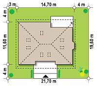Минимальные размеры участка для проекта Z10 D sdu