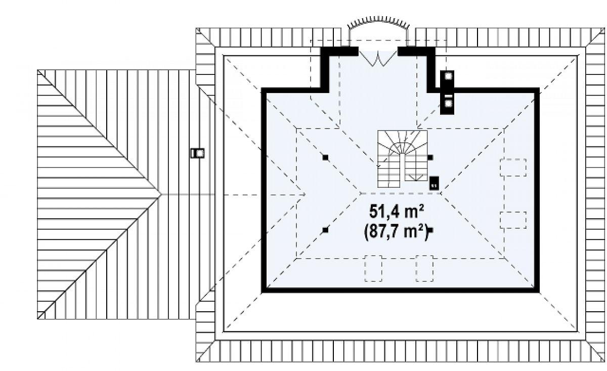 Второй этаж 51,4(87,7м²) дома Z10 GL2 STU bk