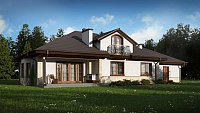 Проект классического дома с мансардой Z10 GL2 STU bk