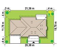 Минимальные размеры участка для проекта Z10 GL2 stu