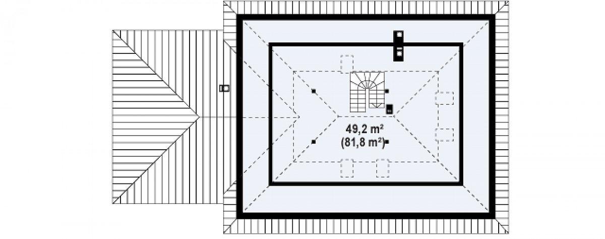 Второй этаж 41,4(81,8м²) дома Z10 GL2 stu