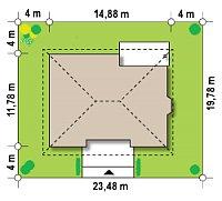 Минимальные размеры участка для проекта Z10 dk