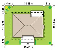 Минимальные размеры участка для проекта Z10 k