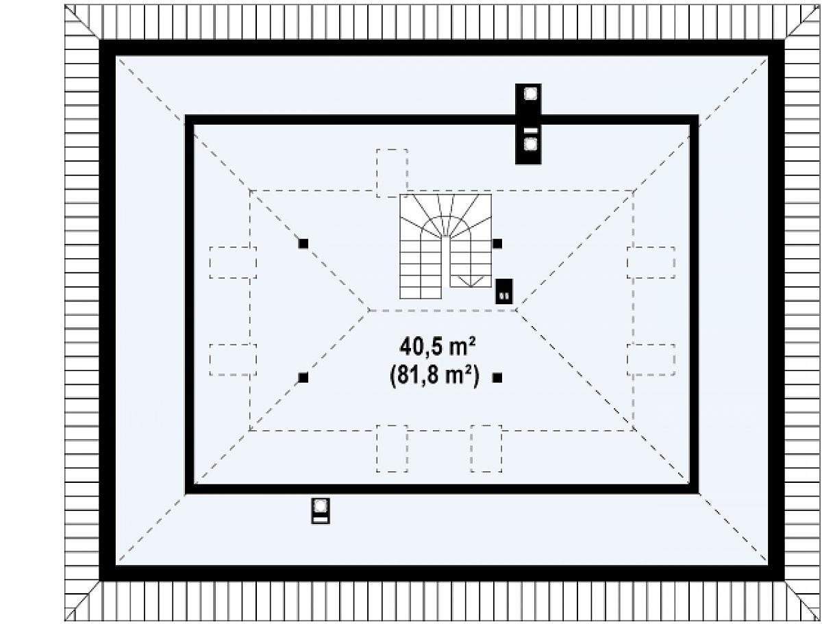 Второй этаж 40,6(81,8м²) дома Z10 stu 30