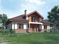 Типовой проект классического дома из кирпича Z10 stu bk