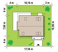 Минимальные размеры участка для проекта Z101 L h+