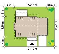 Минимальные размеры участка для проекта Z102 GP