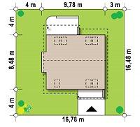 Минимальные размеры участка для проекта Z102