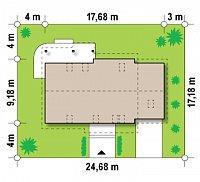 Минимальные размеры участка для проекта Z103