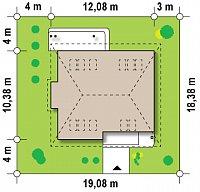 Минимальные размеры участка для проекта Z104