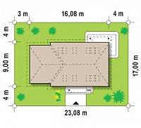 Минимальные размеры участка для проекта Z105
