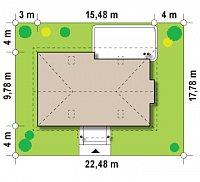 Минимальные размеры участка для проекта Z106