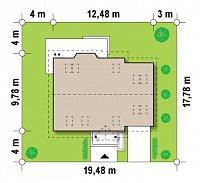 Минимальные размеры участка для проекта Z107