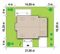 Минимальные размеры участка для проекта Z108