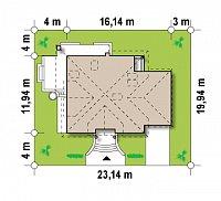 Минимальные размеры участка для проекта Z109