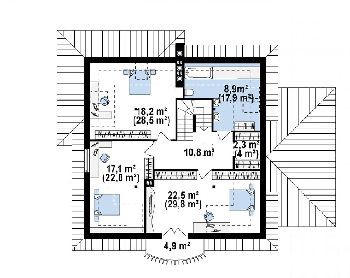 схема балкона на 1 этаже