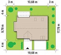 Минимальные размеры участка для проекта Z110
