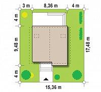 Минимальные размеры участка для проекта Z112