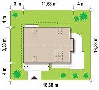 Минимальные размеры участка для проекта Z113