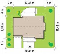 Минимальные размеры участка для проекта Z114