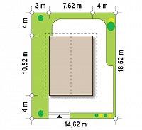 Минимальные размеры участка для проекта Z115