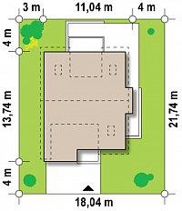 Минимальные размеры участка для проекта Z116