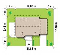 Минимальные размеры участка для проекта Z117