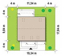 Минимальные размеры участка для проекта Z119