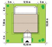 Минимальные размеры участка для проекта Z11
