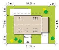 Минимальные размеры участка для проекта Z12 P GP