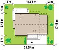 Минимальные размеры участка для проекта Z120