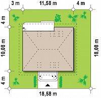 Минимальные размеры участка для проекта Z121