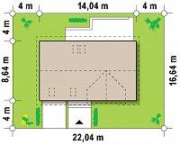Минимальные размеры участка для проекта Z122