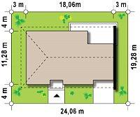 Минимальные размеры участка для проекта Z123 ZBL