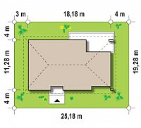 Минимальные размеры участка для проекта Z123