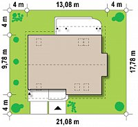 Минимальные размеры участка для проекта Z124