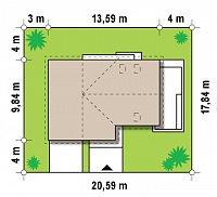 Минимальные размеры участка для проекта Z125