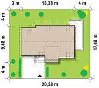 Минимальные размеры участка для проекта Z126