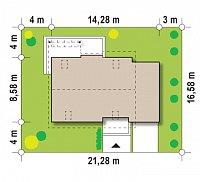 Минимальные размеры участка для проекта Z127