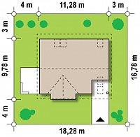 Минимальные размеры участка для проекта Z128